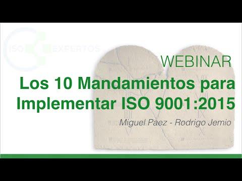 """Los """"10 Mandamientos"""" para Implementar la Norma ISO 9001:2015"""