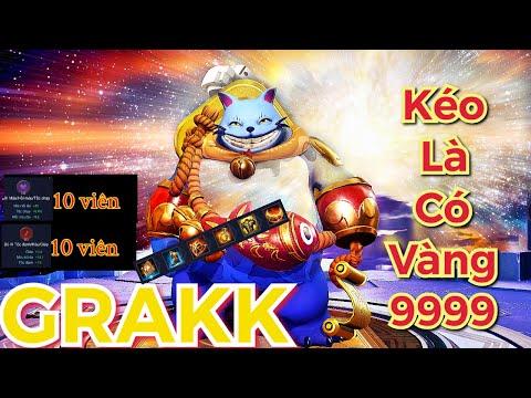 Grakk mùa 15 liên quân | mèo thần tài vàng 9999| cách chơi bảng ngọc trang bị phù hiệu mạnh
