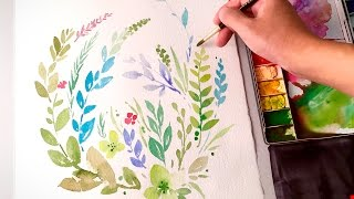 [LVL3] Watercolor Leaves Clipart