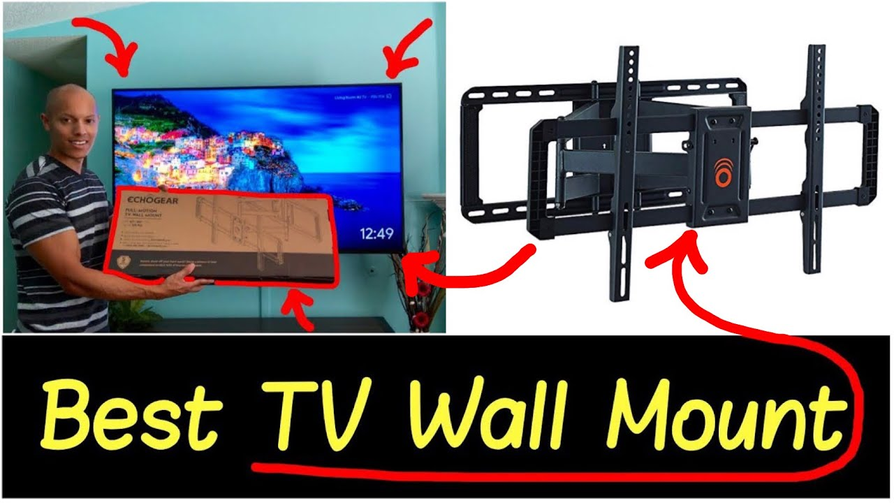 best tv wall mount swivel angle tilt full motion tv 42 85 mounting bracket by echogear