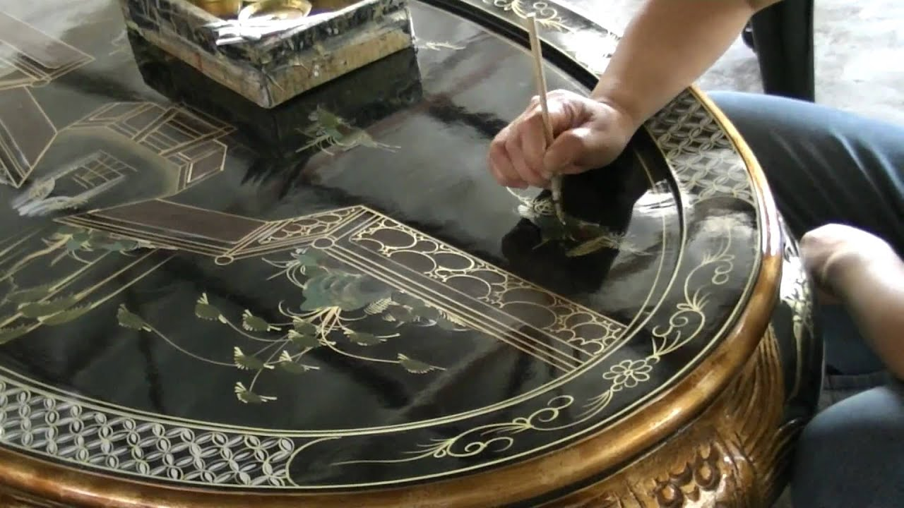 Charming China Furniture And Arts   Handpainted Furniture: The Process And The  Making   YouTube