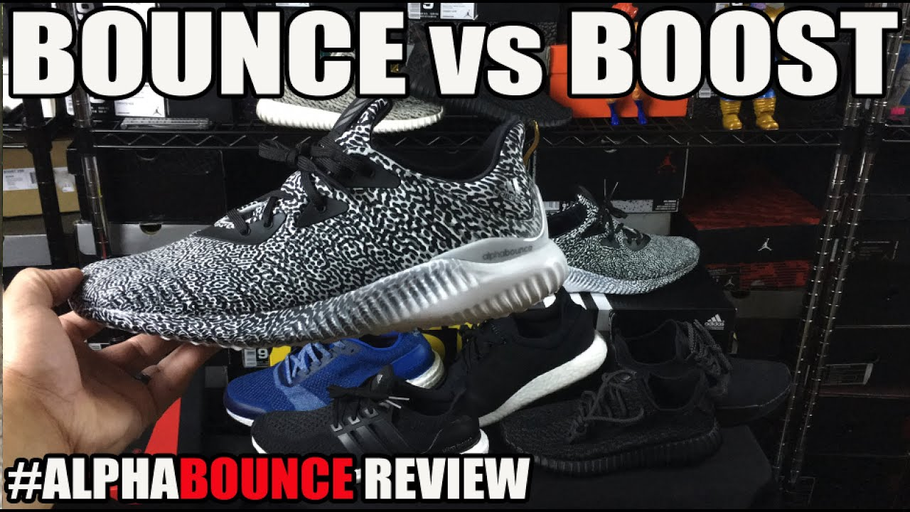 2ee86723fdd4c adidas Bounce vs Boost Comparison   AlphaBounce Review + On Feet ...