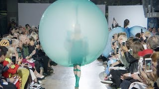 Watch footage of Fredrik Tjærandsen's balloon-like fashion collection | design | Dezeen