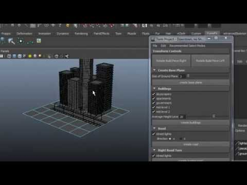 Make city quickly in maya