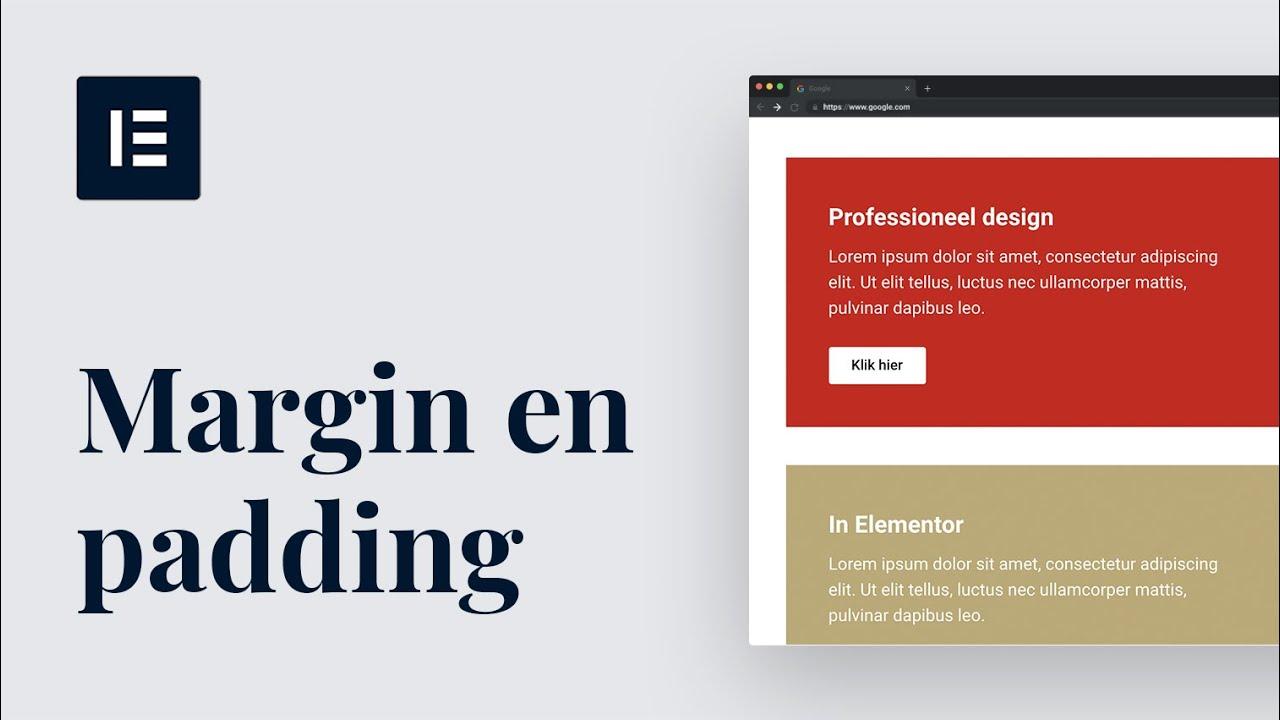 Van rommelig naar professioneel design met 2 instellingen in Elementor  Nederlandse tutorial