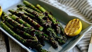 Grilled Asparagus With Balsamic Honey Dijon Vinaigrette