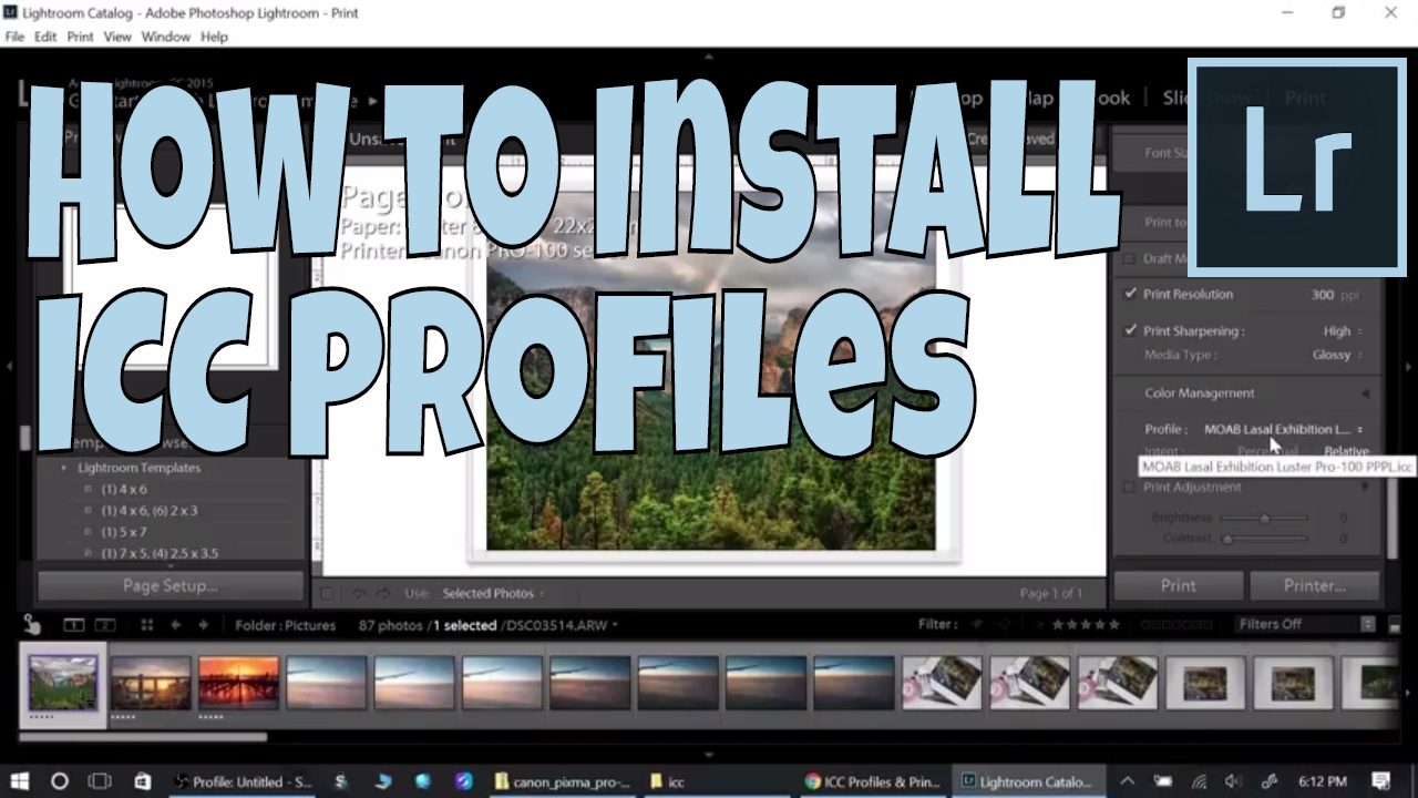 How to Download and Install ICC Profiles