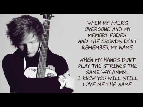 Thinking Out Loud Ed Sheeran LYRICS - YouTube