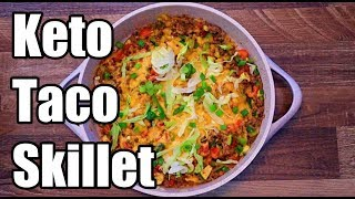 Keto Cheesy Taco Skillet Recipe | Keto Daily