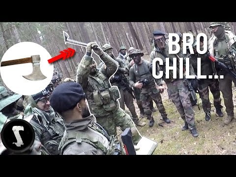 This Guy Takes Airsoft Way Too Serious 🤣  (2000+ Player Airsoft War)