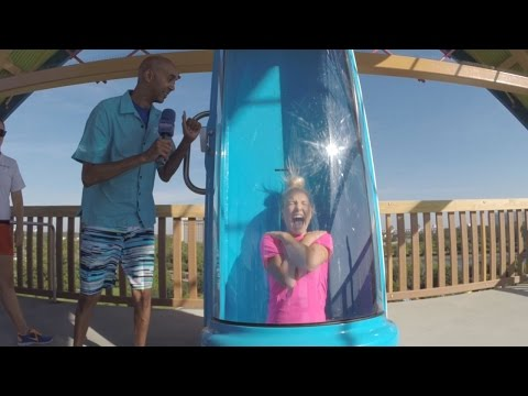 Take the plunge on Ihu's Breakaway Falls at Aquatica Orlando