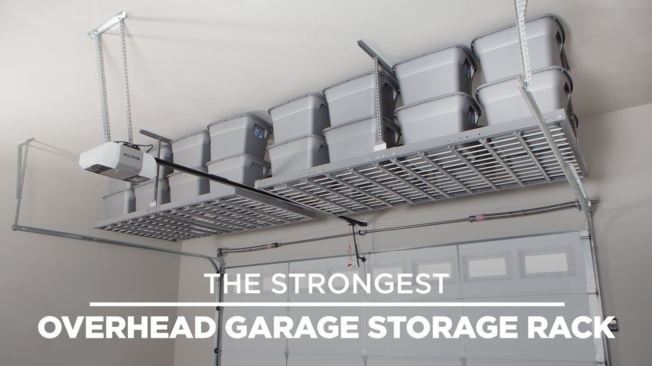 The Strongest Overhead Garage Storage Rack Ceiling By Monkey Bar