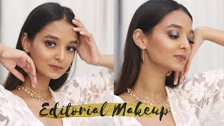 step by step makeup for EVENTS | Trying new products from Nykaa sale | Easy Glitter Halo eye