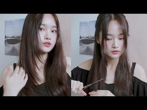 💇How I cut layers in my hair / 셀프 레이어드 컷 �