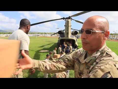 US Army Delivers Food to Puerto Rico