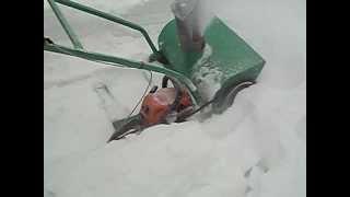 Самодельный снегоуборщик из штиля