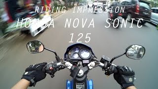 #RIDINGIMPRESSION HONDA NOVA SONIC 125 | MOTOVLOG | ENGLISH SUBTITLE