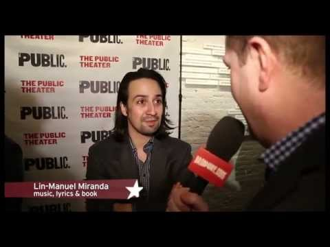 Opening Night of HAMILTON, Musical About Alexander Hamilton by Lin-Manuel Miranda at Public Theater