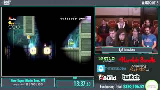 Awesome Games Done Quick 2015 - Part 77 - New Super Mario Bros. Wii by EmoArbiter
