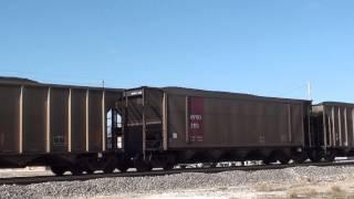 BNSF 8475/BNSF 8793 S/B coal Pleasanton Kansas.HD.