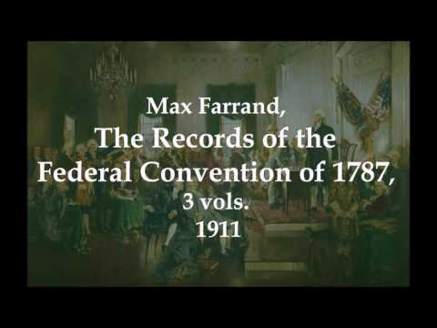 25 May 1787 Constitutional Convention