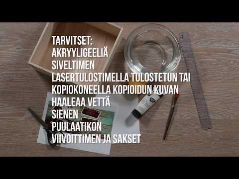 Kuvansiirtotekniikka - Suomalaisen ideat askarteluun