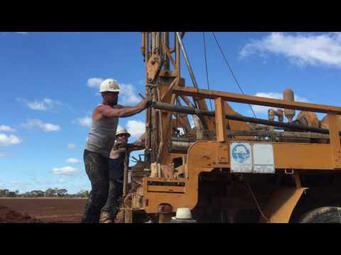 Drilling on a mayhew rig