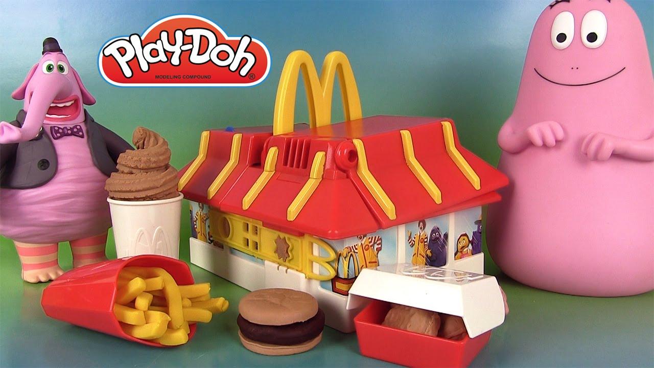 play doh mcdonald s restaurant playset p te modeler mcdo frites barbapapa youtube. Black Bedroom Furniture Sets. Home Design Ideas