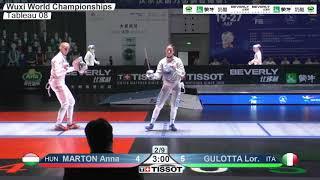 Wuxi 2018 Fencing World Championships ws t08 ITA vs HUN