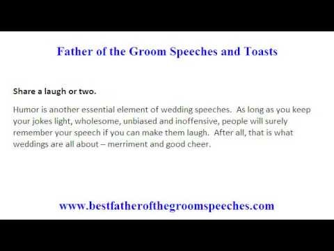 Sch Father Of The Groom Your Guide To Writing Good You