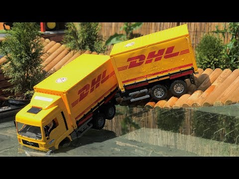 Bruder Toys Best of BRIDGE FALLS | Toys crash | Truck and tractor accident
