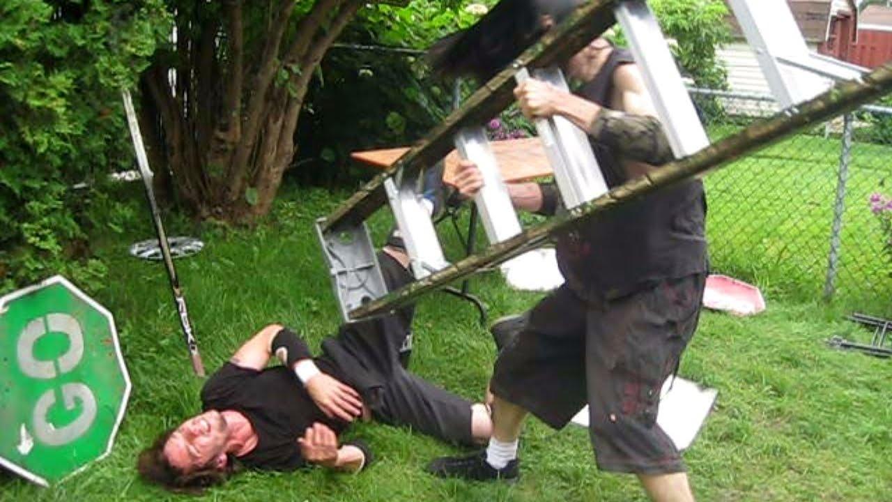 grass bag ladder match xristo vs ric roberts 2nd round chw