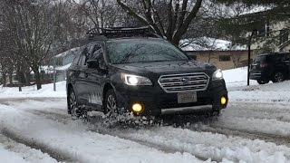 Subaru Outback - Handling in Different Winter Weather Conditions