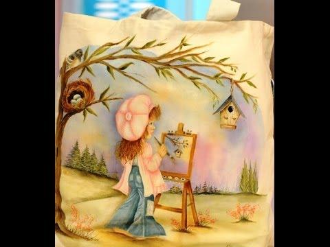 Como pintar sobre tela reciclar una camisa ana maria - Como pintar sobre tela ...