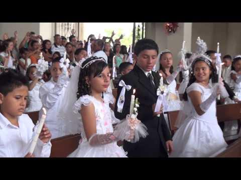 Parroquia Santos Ap�stoles primeras comuniones Dic 08 2013