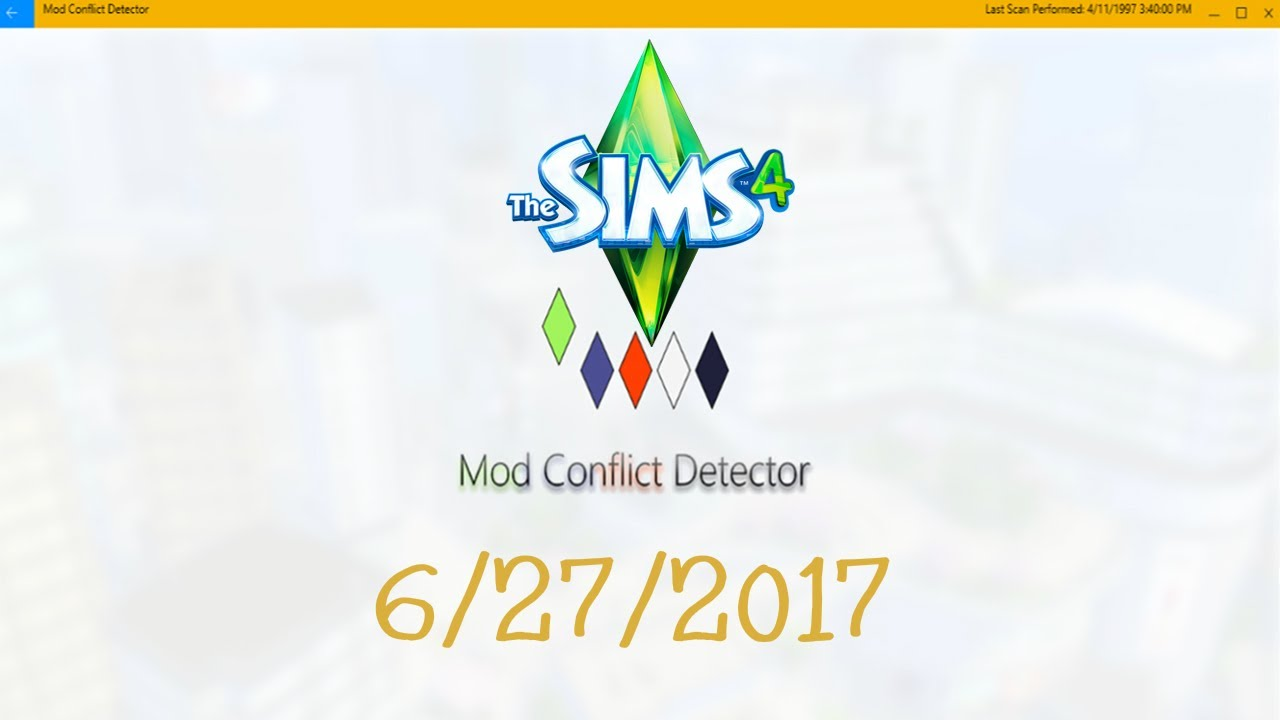 The Sims 4 & THE NEW Mod Conflict Detector : How To