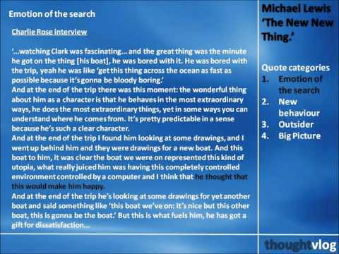 Michael Lewis: The New New Thing Part 2