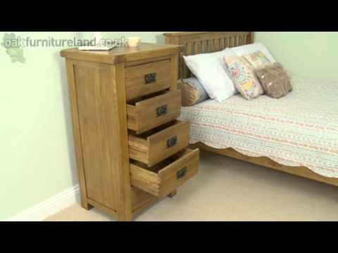 Rustic Solid Oak 5 Drawer Chest From Oak Furniture Land
