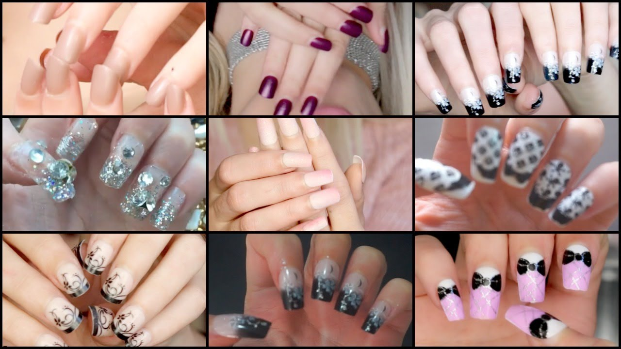 Cheap & AMAZING Full Cover Glue On Nails from eBay #1 - YouTube