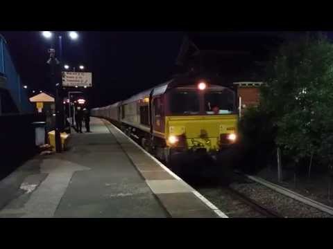 Barnetby Station (Evening) 17/06/15 Classes 37/60/66