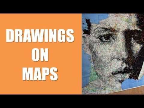 THE ART BLOG •  DRAWINGS ON MAPS