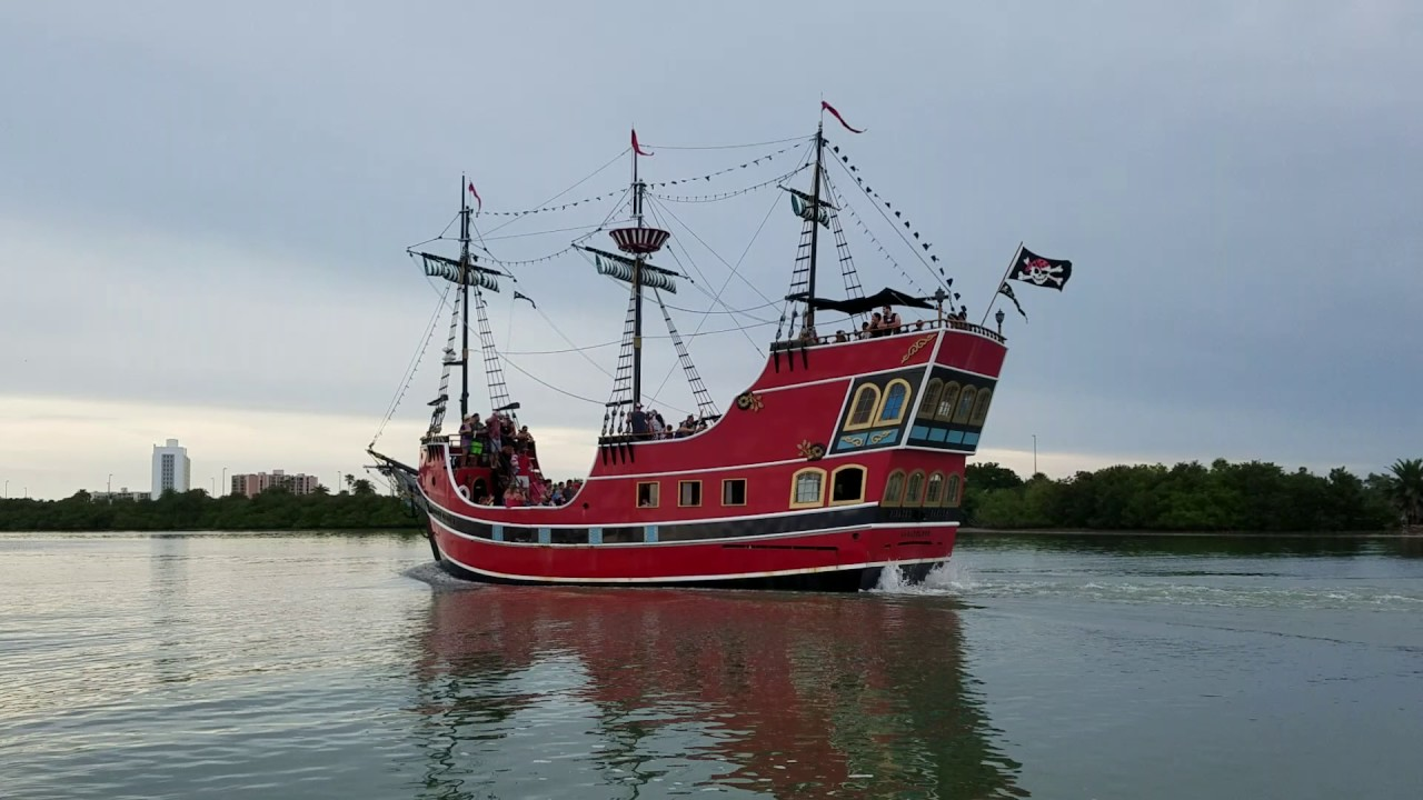 Capt Memo Pirate Ship Cruise Passing By YouTube - Pirate ship cruise