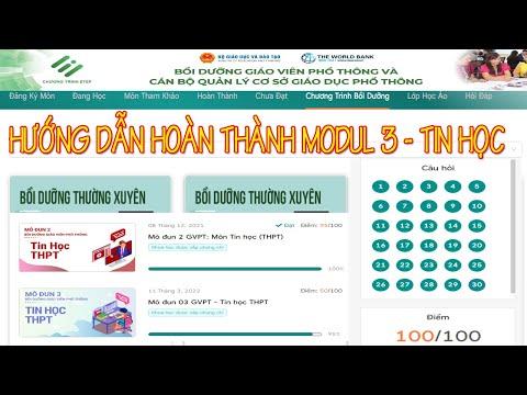 Module 3 Tin học THPT & THCS I CHƯƠNG TRÌNH GDPT MỚI