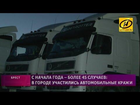 Автомобильные кражи в Бресте участились с начала года