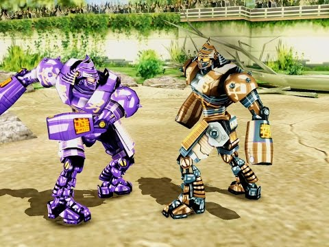 REAL STEEL WRB-NOISY BOY vs ATOM & SIX SHOOTER & TWIN CITIES (ЖИВАЯ СТАЛЬ)