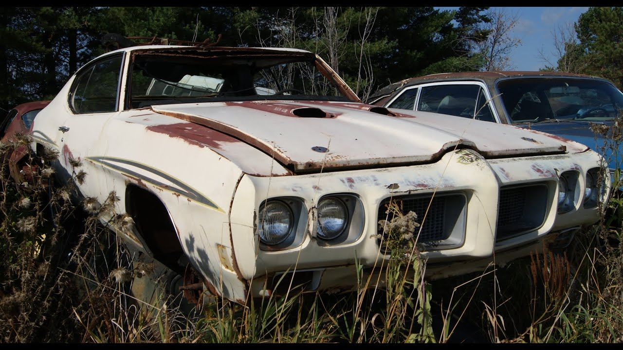 Muscle Car Junkyard Part 5: GTO Judge, 68 Mustang Fastback, 70 ...