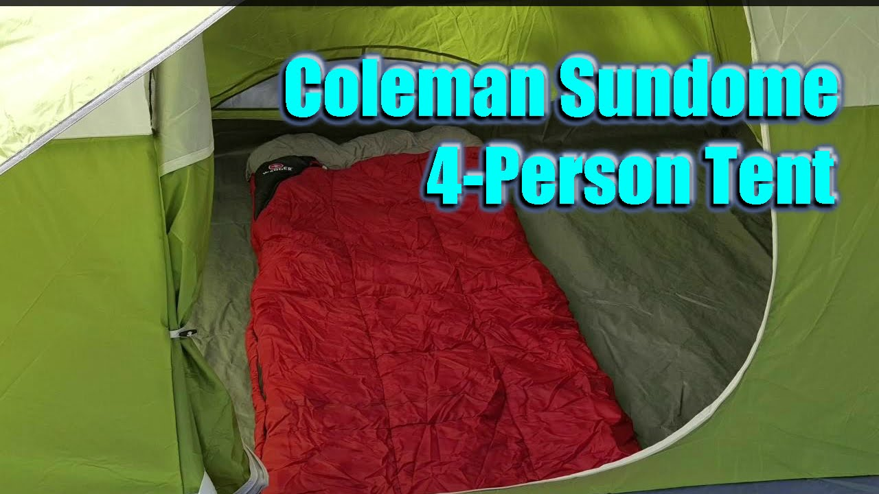 & Setup and Review: Coleman Sundome 4-Person Tent - YouTube
