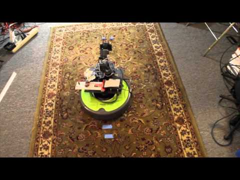 Snapper Arm mounted on iRobot Create 2 base