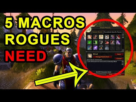 Top 5 Macros Every Rogue Needs In Classic WoW