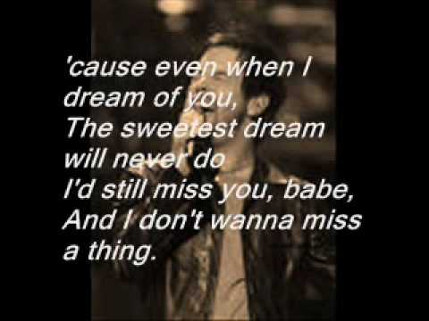 David Cook- I Don't Wanna Miss a Thing(Studio Version)WITH LYRICS!!